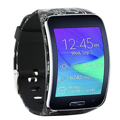 Baaletc Samsung Galaxy Gear S R750 Smart Watch Vervangende Polsband Armband/Gratis Maat Draadloze Smartwatch Accessoire Band Band Band Met Veilige Gesp