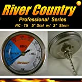 River Country 5' Dial (RC-T5) Adjustable BBQ, Grill, Smoker Thermometer (50 to 550 F)