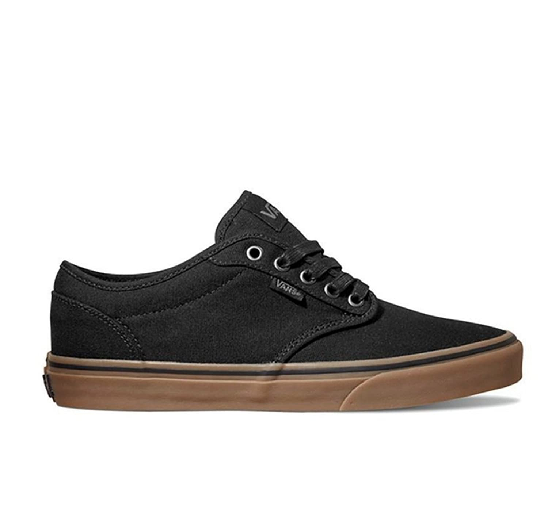 Vans Boy's Atwood Slip-On (Canvas) Skateboarding Shoes Black/Gum