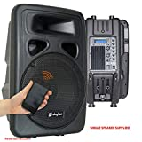 Skytec SPJ1500ABT 15 Inch Active Powered Bluetooth PA Speaker Disco Party Sound System
