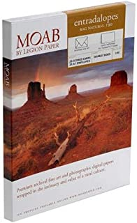 """product image for Moab Entradalopes 25 Scored Cards, 5x7"""" when folded, of Entrada Rag 190 Natural Inkjet Paper with 25 A7 Corresponding Envelopes"""