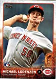 2015 Topps Update #US38 Michael Lorenzen Baseball Rookie Card in Protective Display Case
