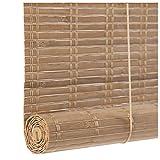 Giardino Persiana Enrollable de bambú Vintage, persianas Romanas, persianas enrollables, Transpirables, Cortina de bambú para el hogar, para Interiores y Exteriores, para Porche, Cocina, Patio