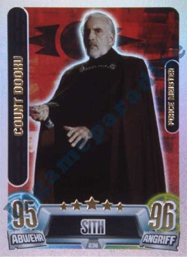 Star Wars Force Attax Movie Cards Serie 2 - Count Dooku - Force Meister - Deutsch