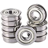 XiKe 10 Pack FR6ZZ Bearings 3/8' x 7/8' x 9/32', Double Shield and Pre-Lubricated & Stable Performance and Cost-Effective, Deep Groove Ball Bearings.