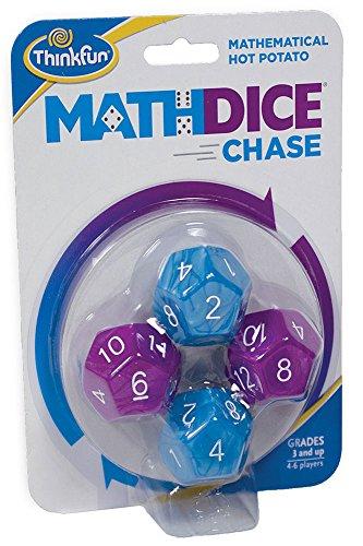 ThinkFun Math Dice Chase  The Fun Game of Mathematical Hot Potato Invented by a Math Teacher