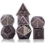 Schleuder Juego de Dados de rol Dice Set, DND Dados de Metal RPG D&D Poliédricos para Dragones y Mazmorras, Juegos de Mesa y Juegos de rol (Antique Nickel)