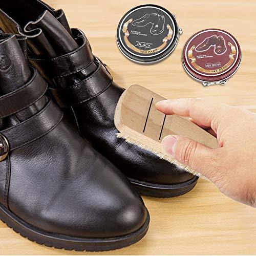 Fockety Cepillos de Pulido Neutro, 6 Pinceles para pulir Zapatos, Pinceles limpios para el Cuidado, para el día del Padre, cumpleaños u Otros Festivales para Botas, Zapatos, Zapatillas de Deporte