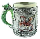 Taza de dragón - dragón Chino - 3D - Acero Inoxidable - Resina - Jarra de Cerveza - Horror - gótico - Bebidas - café - Hombre - Vikingo - Medieval - Halloween