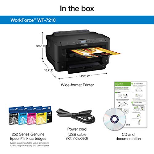 WorkForce WF-7210 Wireless Wide-format Color Inkjet Printer with Wi-Fi Direct and Ethernet, Amazon Dash Replenishment Ready Photo #6