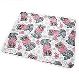 Babydesign Wickelauflage,Aquarell Wald Winter Waschbär Wickelauflage Leichte Wasserdichte Wickelauflage Für Kleinkinder Jungen Mädchen 50X70Cm