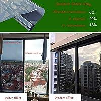 OUPAI 窓フィルム 窓用フィルム、一方向透けガラスフィルム家庭用ガラスステッカー反射防止UVカット防止バルコニー日よけ断熱フィルム2色 ガラスフィルム (Color : A, Size : 80×100cm)