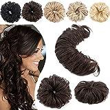 SEGO Elastico Capelli Veri per Coda Extension Chignon Hair Bun Lunghi (Dimensioni 20cm-63cm) DIY Disponibile 32g #2 Marrone Scuro