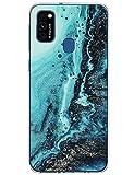 Carcasa compatible con Samsung Galaxy M31, carcasa de silicona transparente, funda de mármol lila ultrafina TPU funda suave transparente antiarañazos antigolpes para Samsung Note 20 Ultra Beige E