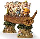 Escultura de jardín de Resina Que representa a los Siete enanitos de Blancanieves sosteniendo una azada Que Trabaja y alegremente