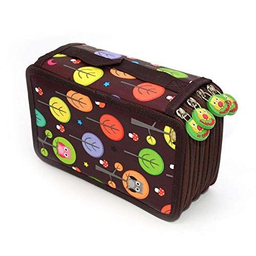 Pen Bags 1Pcs 72 Holes Pencil Case Owl Estuche Escolar Trousse Scolaire Stylo Pencilcase Pencil Box School 4 Layers
