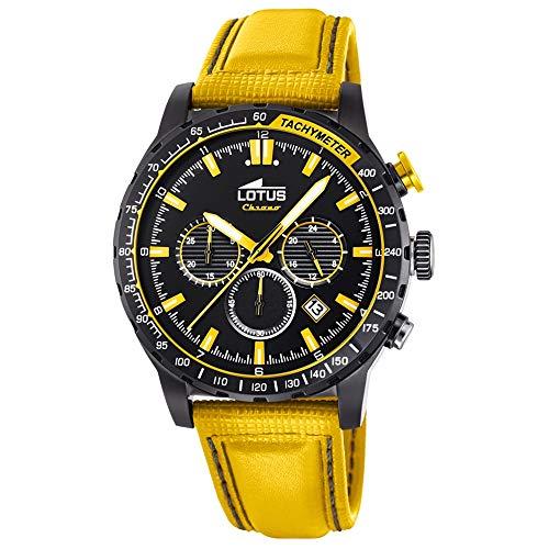 Lotus Herren Chronograph Quarz Uhr mit Leder Armband 18588/1