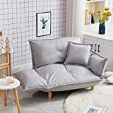 GGAA Sofa Couch Sofa Sofa Bed Convertible Adjustable Sofa Couch and Love Seat Japanese Furniture Fold Down Futon Sofabed Ideal for Living Room, Bedroom, Dorm (Color : Ivory Color)
