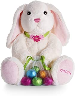 info for 414db 470ec Godiva Chocolatier Limited-Edition 2019 Easter Plush Bunny with Chocolate  Foil Eggs, Easter Baskets