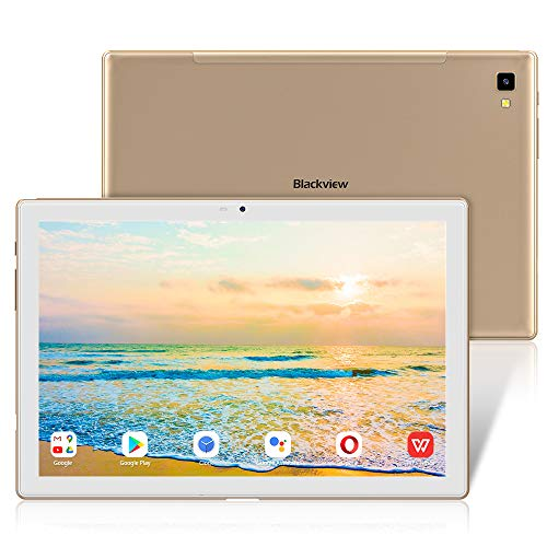 Tablet 10.1 Pulgadas Android 10, Blackview Tab 8E Tableta Octa-Core 1.6 GHz, 5G WiFi, 1920 * 1200 FHD+, 6580mAh, Cámara Dual 13.0+5.0 MP, 3GB+32GB, SD 128GB, Bluetooth 5.0/GPS/Face ID/OTG/Tpye-C