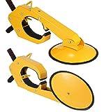 BestEquip 2pcs Wheel Lock Clamp Adjustable Tire Boot Lock Anti-theft Lock Clamp Boot Tire Claw with 4 Keys for Parking Car Truck RV Boat Trailer (2pcs)