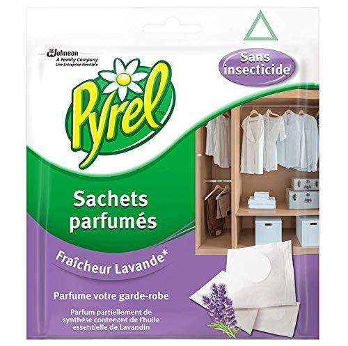 Pyrel parfum garde robe sans insecticides, 24 sachets