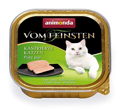 animonda Vom Feinsten Adult Katzenfutter, Nassfutter für ausgewachsene Katzen, kastrierte Katzen Pute pur, 32 x 100 g