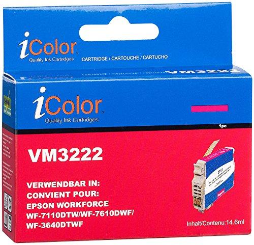 iColor Tintenpatrone für Epson (ersetzt T2713 / 27XL), Magenta XL