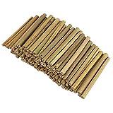 BELLE VOUS Palos de Bambu o Estacas de Bambú - Pack de 100 Bambu Decorativo para Niños y Adultos...