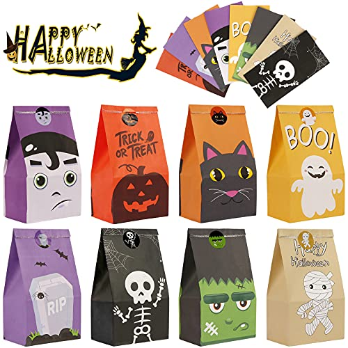 OurWarm 48pcs Halloween Gift Bags, Trick or Treat Bags, Halloween Party...