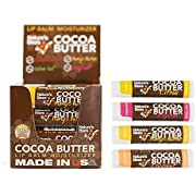 Nature's Bees Cocoa Butter Lip Balm Tubes Moisturizer All Natural Chap Treatment