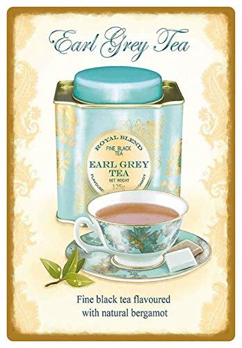 Blechschild 20x30cm gewölbt Earl Grey Tea Tee Royal Blend Deko Geschenk Schild