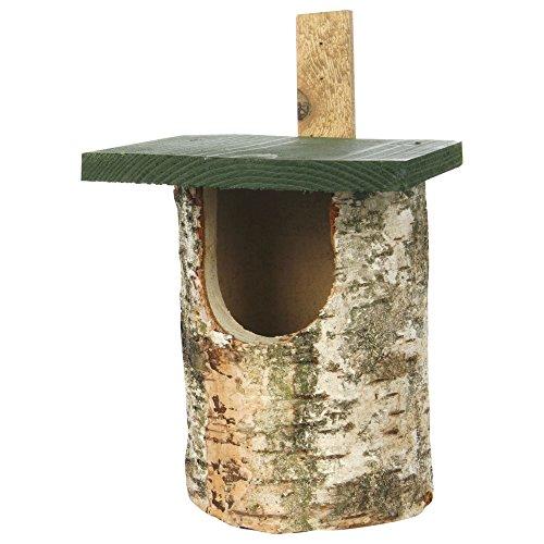 CJ Birch Log Nest Box Open Front (FSC)