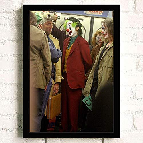 IHlXH Joker Joaquin Phoenix Heidebuch DC Film Comics Wandkunst Gemälde Druck auf Leinwand Bar Zimmer Poster Bilder Wohnkultur 6 50 x 70 cm Kein Rahmen