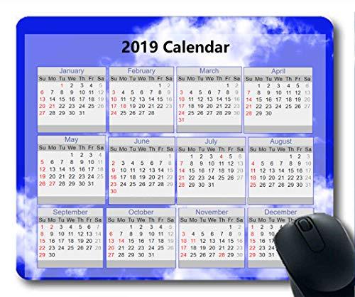 Cojines de ratón del Calendario 2019, cojín de ratón del Año Nuevo, cojín de ratón del Juego del Cielo Estrellado de la Pintura