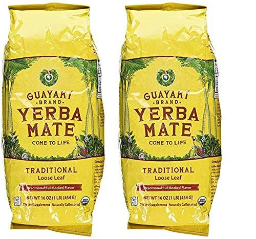 Guayaki Traditional Organic Yerba Mate, Loose Tea, 16 Ounce (Traditional, 2 bags)