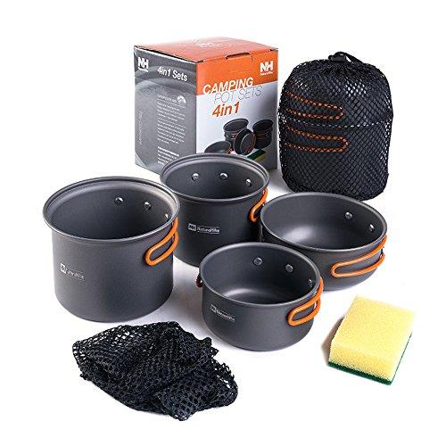 NatureHike コッへル・クッカーセット 2-3人用キャンプ鍋セットアウトドアフライパン調理器具