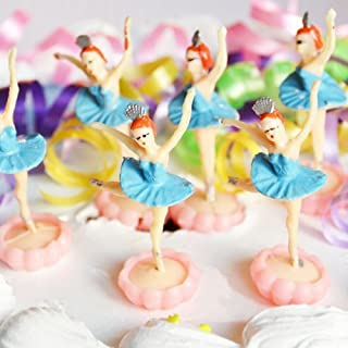 Ballerina Cake Topper (6 Count) - Blue