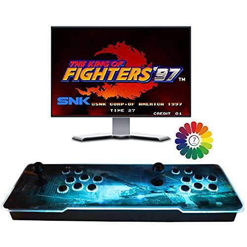 Pandora's 3D Juegos clásicos Consola de Videojuegos, 8000 en 1 TV Juego de Videojuegos con 2 Botones de Joystick Partes de la Fuente de alimentación Salida HDMI VGA USB