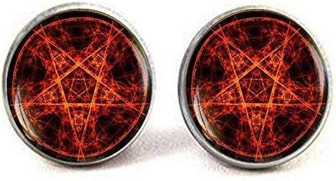 55% OFF Pentagram Cufflinks Fire Jewelry O Sales results No. 1