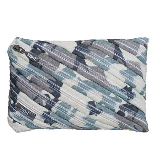 ZIPIT Camo Big Pencil Case, Grey Camouflage