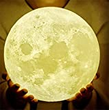 Diameter 7Inch Moon Lamp,9Inch and11Inch Moon Light Lamps, 3D Moon Lamp with Stand, Moon Night Light with LED 16 Colors, Touch Control and Remote Control.