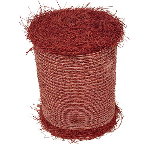 Longleaf Pine Straw Roll for Landscaping - Red Color UV Resistant - Covers 125 Square Feet or More
