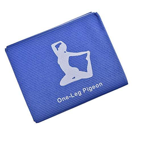Generp Tapis de Yoga Pliable en PVC antidérapant pour Yoga, entraînement, Gym, méditation, Voyage