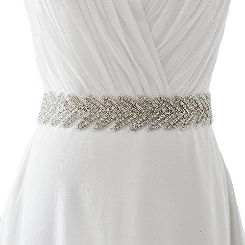 ULAPAN cinturones de vestido plateados para mujer, cinturón de vestido blanco y plata, cinturón de…