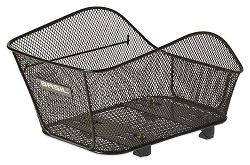 Basil Unisex– Erwachsene Icon S Fahrradkorb, Black, 34 cm x 29 cm x 23 cm