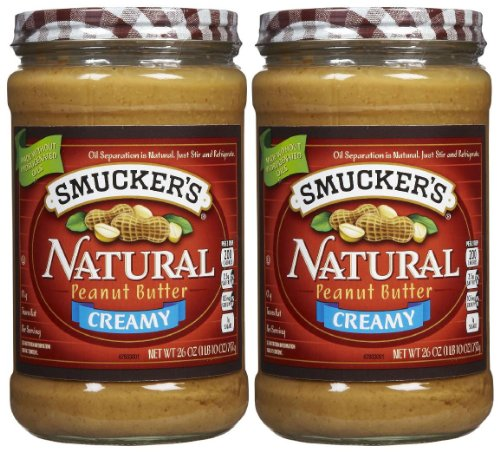 Smucker's Creamy Natural Peanut Butter, 26 oz, 2 pk