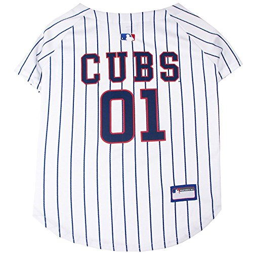 Pets First MLB Chicago Cubs Dog Jersey, Medium. - Pro Team Color Baseball Outfit