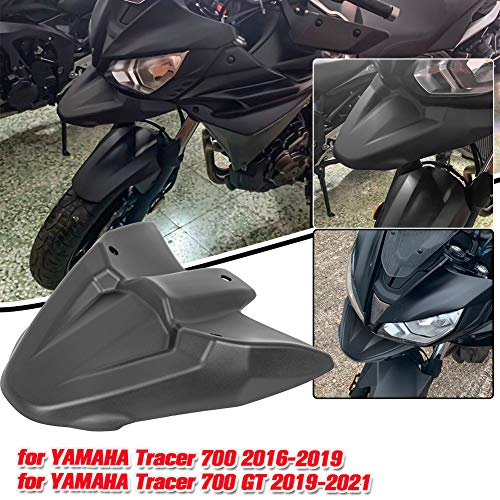 AHOLAA Tracer 700 GT Parafango Anteriore per Moto,Ruota Anteriore Parafango Becco Copertura Estensione Cono Cowl per Yamaha Tracer 700 Tracer700 GT 2016 2017 2018 2019 2020 2021