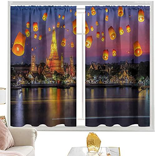 Cortinas & drapes Linterna,Wet Arun W52 x L84 Pulgada cortinas opacas